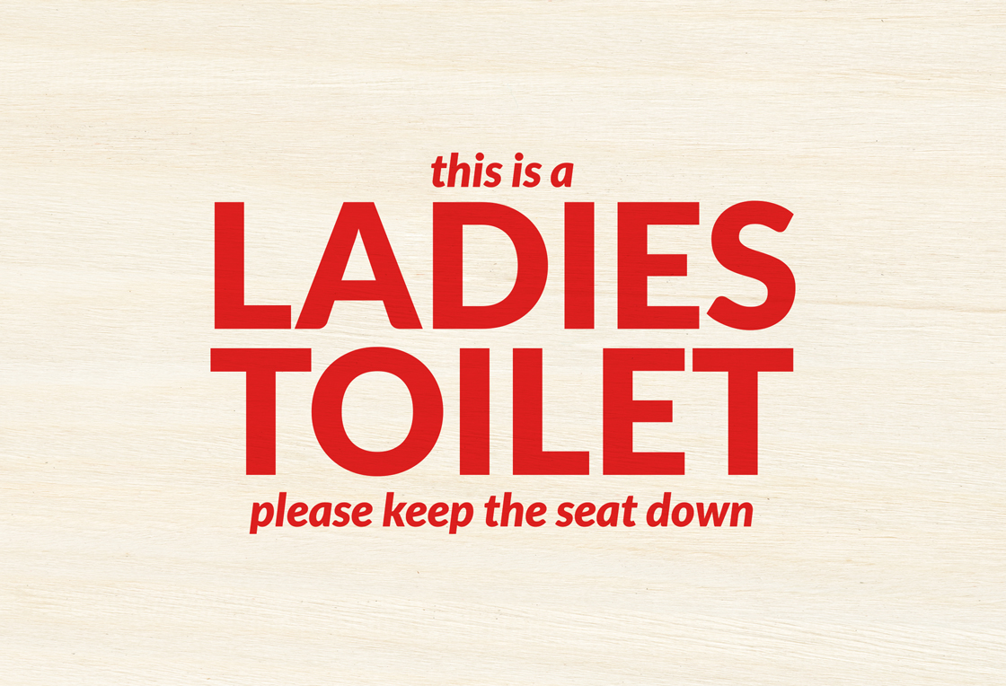 Ladies-toilet-signage